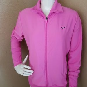 NIKE Dry Fit Training Zip Front NEW Pink Jacket~L